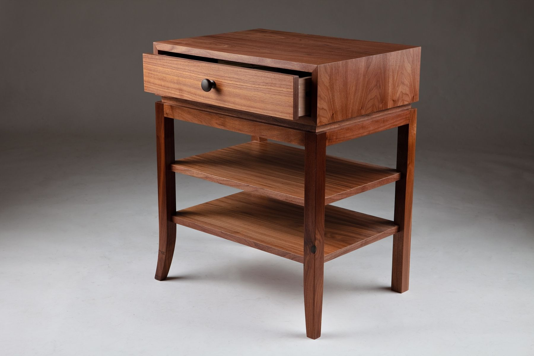 hand made walnut nightstand by bernwood custom design  custommadecom - custom made walnut nightstand