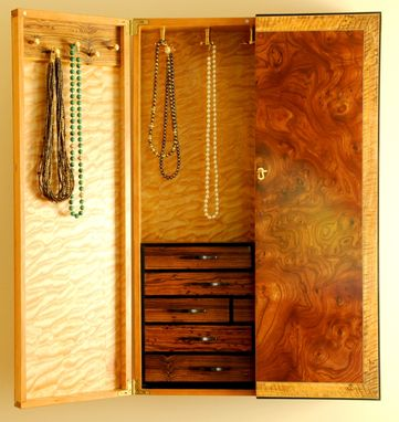 Custom Made Wall Mounted Jewelry Cabinet