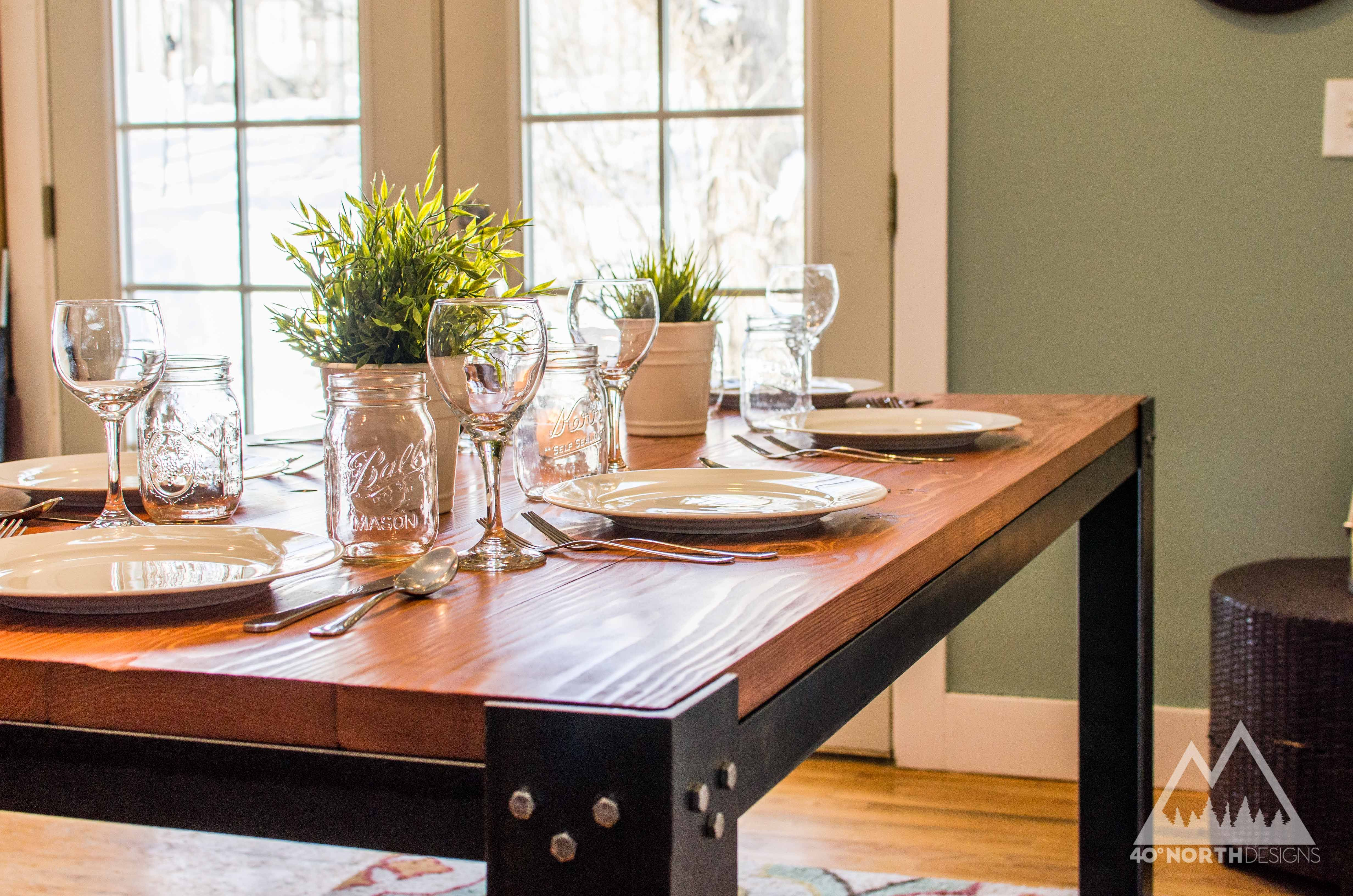 Buy a Custom Modern Rustic Dining Table, made to order from ...
