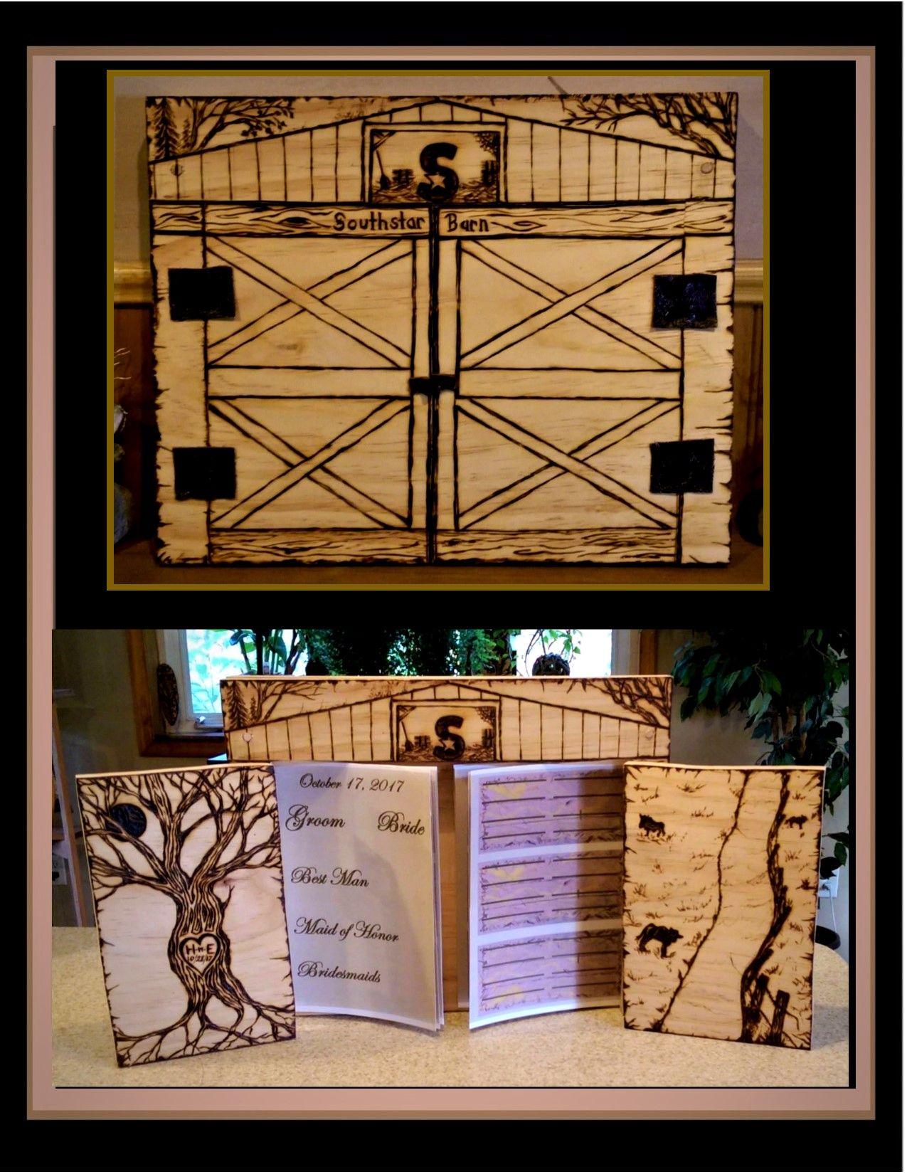 Buy a Hand Made Barn Wedding, Wedding Guest Book, Barn ...
