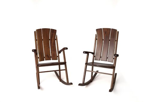 Custom Made Walnut Rocking Chairs
