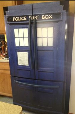 Custom Made Life Size Tardis Wall Decal