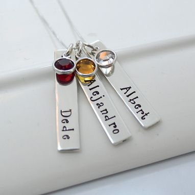 Custom Made Mother Of Three Personalized Birthstone Necklace | Mother's Day Gift