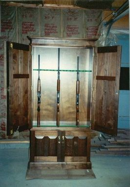 Custom Made Walnut Gun Cabinet