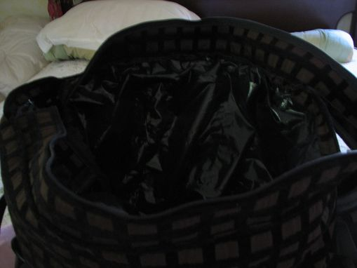 Custom Made Black And Brown Diaper Bag
