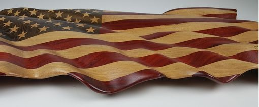 Custom Made Hand Carved American Flag