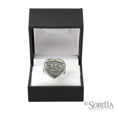 Custom Made Custom Heart Shaped Signet Ring
