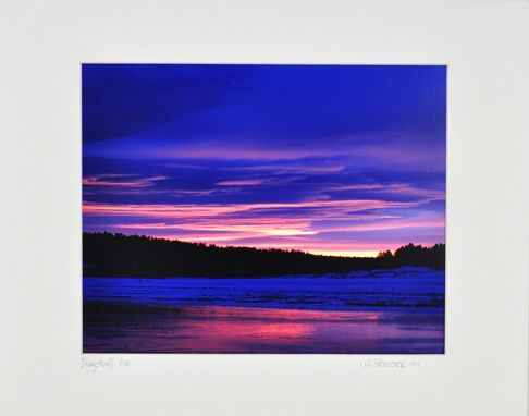 Custom Made Landscape Photography Sunrise Flagstaff, Arizona - 16x20 Print With Matte