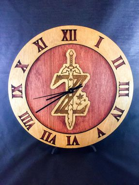 Custom Made Legend Of Zelda Breath Of The Wild Stained Wood Laser Cut Clock