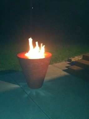 "Custom Made ""Scarlet Fire"" Fire Pit"