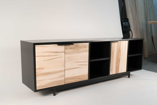Custom Made Credenza Two - Ambrosia Maple/Black Ash