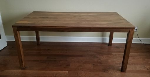 Custom Made Walnut Parsons Dining Table - Cherry Option