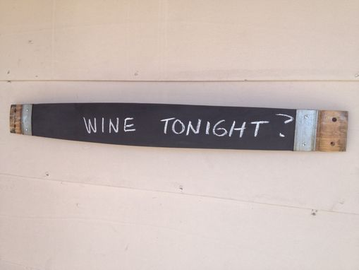 Custom Made Wine Barrel Stave Chalkboard