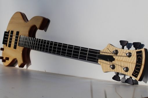 Custom Made 4 String Electric Bass Guitar Curly Brosinium