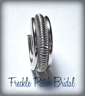Custom Made Men'S Sterling Silver Wedding Ring Band