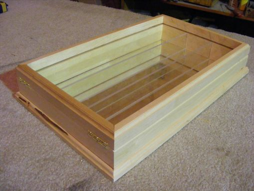 Custom Made Mirrored Shadow Box,Maple Shadow Box