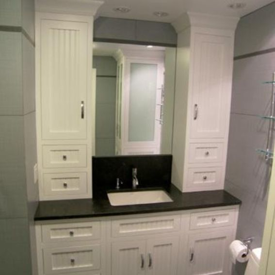 custom built bathroom cabinets made bathroom vanity and linen cabinet by edko 18026