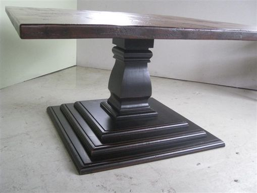 Custom Made Tiered Pedestal Base In Black