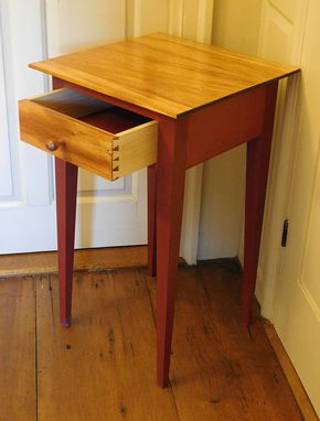 Custom Made Mahogany And Milk Paint Shaker Style Night Stand