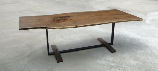 Custom Made Live Edge Modern Dining Table