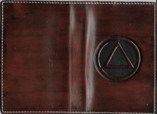 Custom Made Leather Cover For Soft Back Alcoholics Anonymous Big Book
