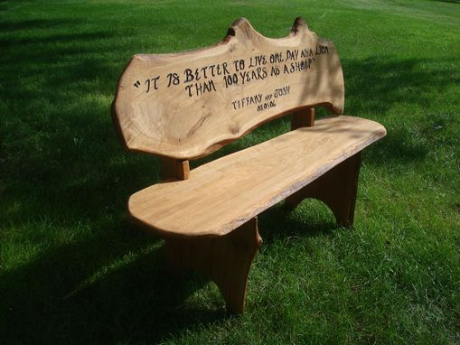 Custom Made Custom Engraved Anniversary Bench