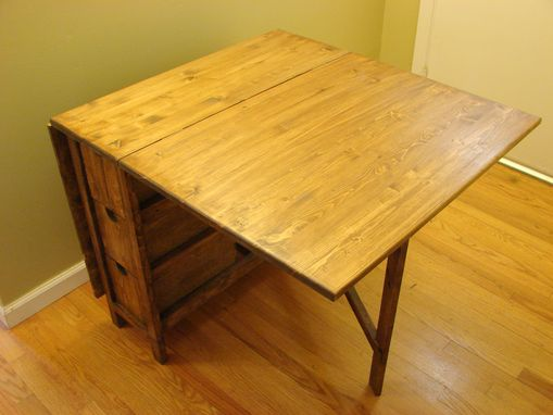 Custom Made Foldable Table With Drawers