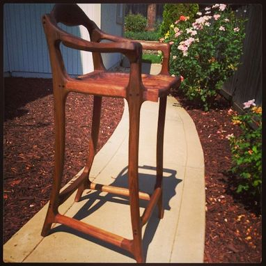 Custom Made Maloof Inspired Bar Stool
