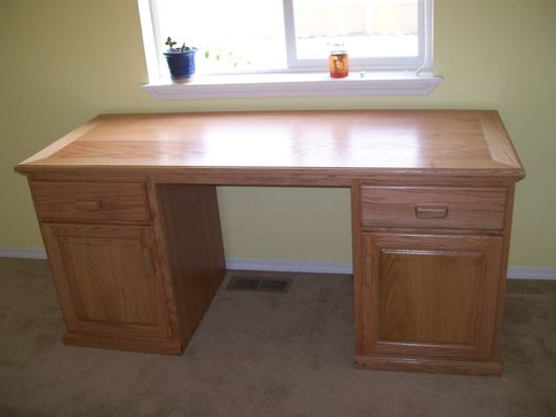 Custom Made Office Furniture Made From Red Oak
