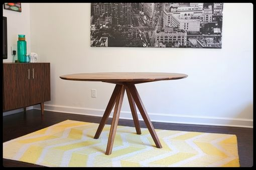 Custom Made The Mila: Mid Century Modern Solid Walnut Dining Table 52