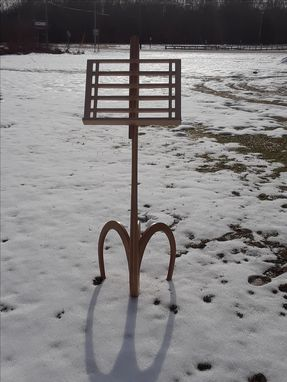 Custom Made Symphony In The Snow Music Stand