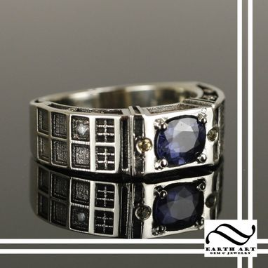 Custom Made Blue Spinel And Yellow Sapphire Tardis Ring