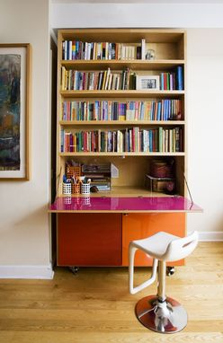 Custom Made Bookshelf-Secretary Cabinet