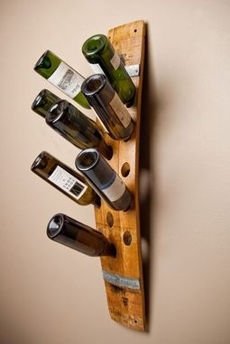 Custom Made Wall Wine Rack, 16-Bottle