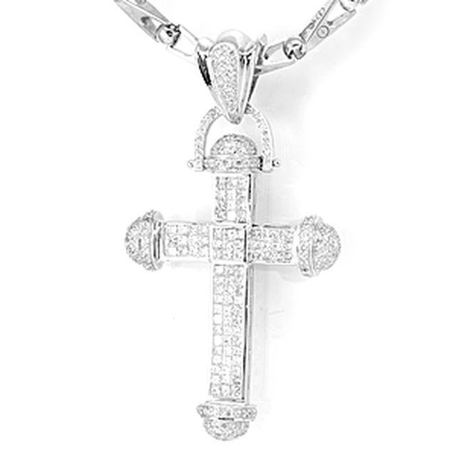 Custom religious necklaces and pendants custommade elegant cross diamond pendant in 14k white gold cross pendant mens pendant aloadofball Images
