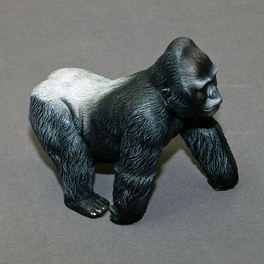"Custom Made Gorilla ""Silverback Gorilla"" King Kong Figurine Statue Sculpture Limited Edition Signed Numbered"