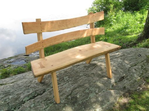 Custom Made '' Just Flip It '' Cherry Bench