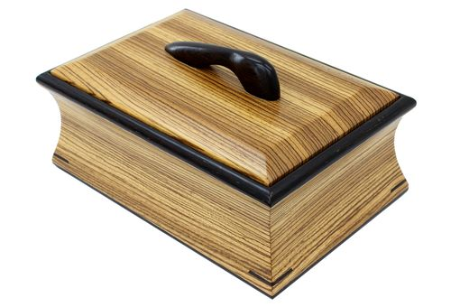 Custom Made Cove Box | Solid Zebrawood And Wenge