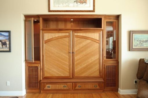Custom Made Built-In Entertainment Armoire