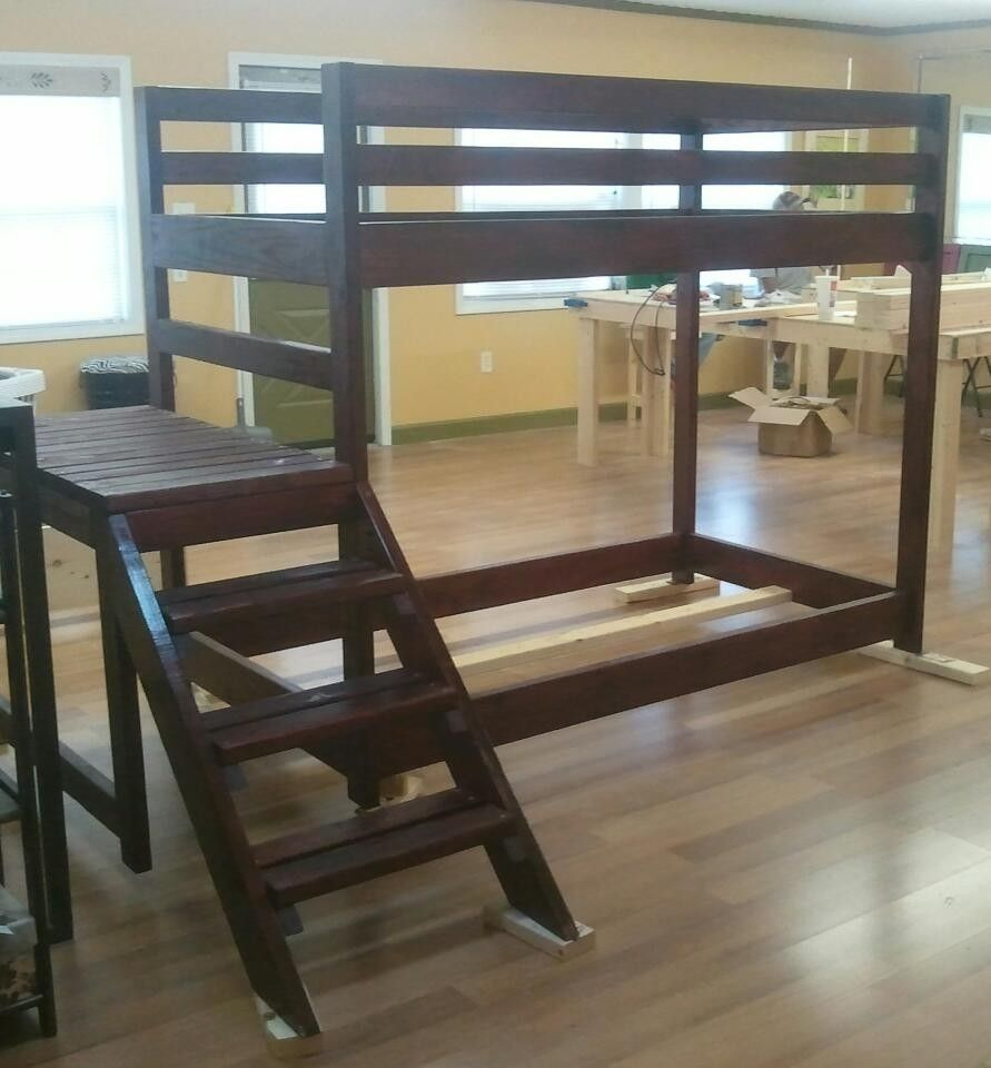 Custom Loft Or Bunk Bed With Stairs by Wholly Craft, Inc. | CustomMade.com