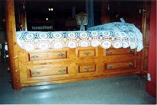 Custom Made Cherry Canopy Platform Bed