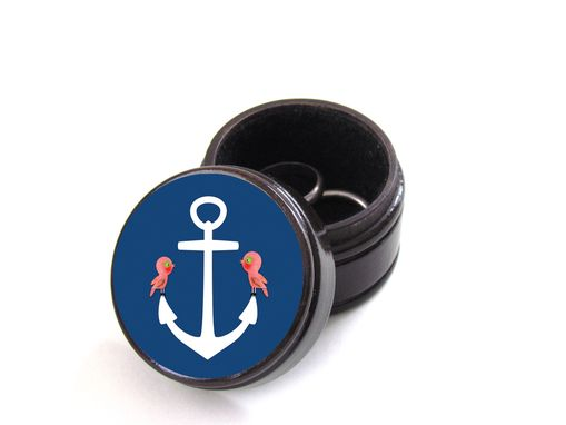 Custom Made You Are My Anchor Pill Box - Ring Bearer Pillow Box - Wedding Rings - Engagement Rings