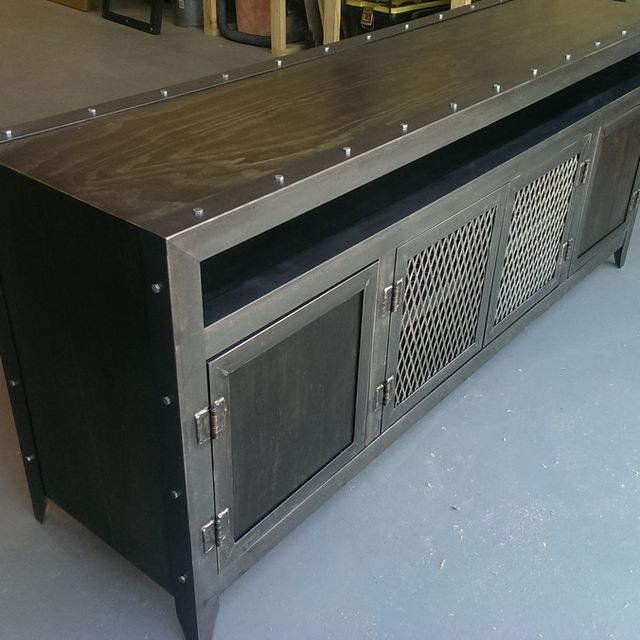 A Custom Media Console Made To Order From Evolution Furniture Co Custommade
