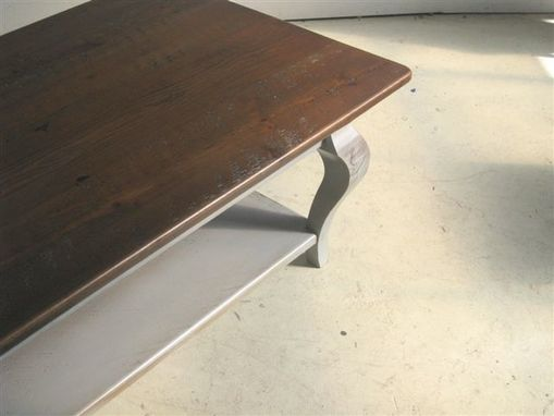 Custom Made Rustic Coffee Table With Drawer & Shelf