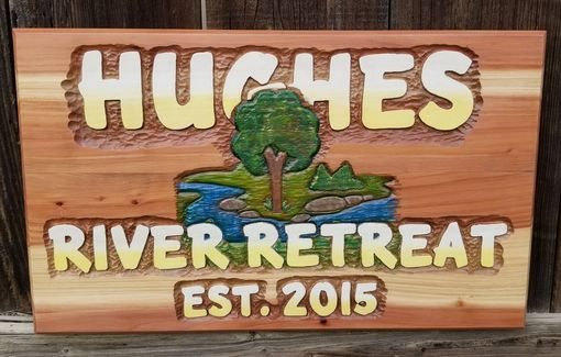 Custom Made Hand Carved Redwood Signs Made To Order