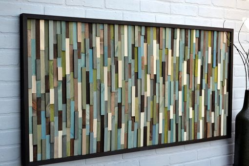 Custom Made Wood Wall Art - Wood Wall Art - Reclaimed Wood Art Sculpture - Modern Wall Art
