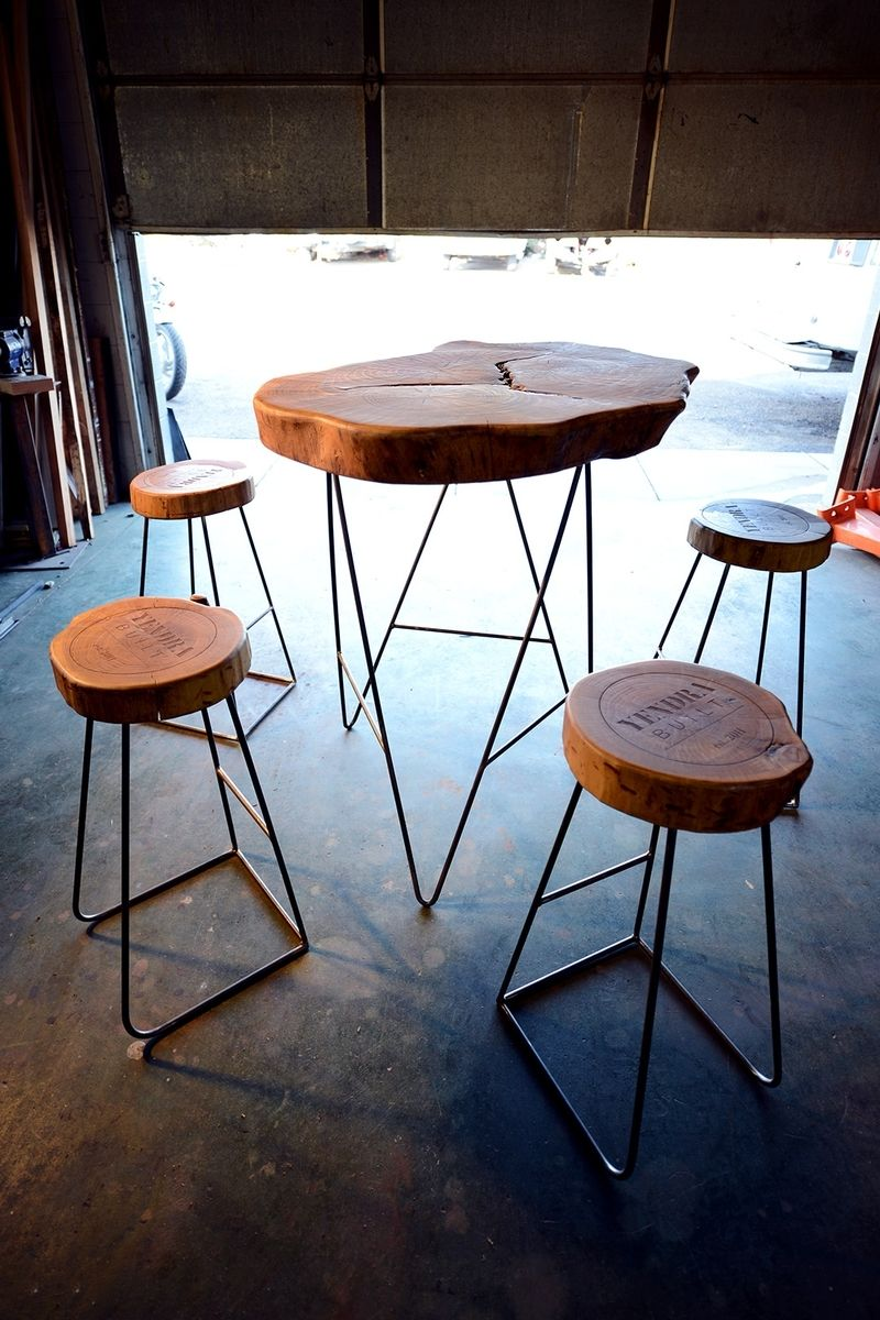 Hand Made Slab Top Table Amp Stools By Yendrabuilt