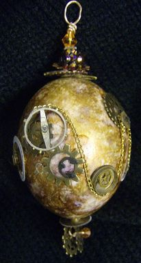 Custom Made Steampunk Eggart Ornament
