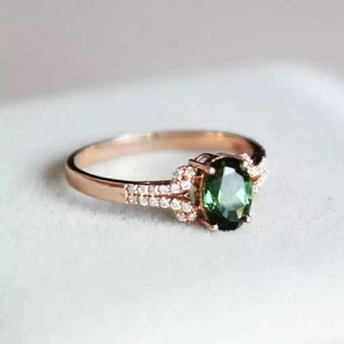 Custom Made 1.02 Carat Tourmaline Ring In 14k Rose Gold