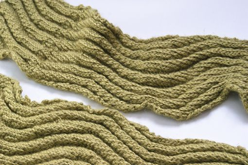 Custom Made Lime Squiggle Scarf